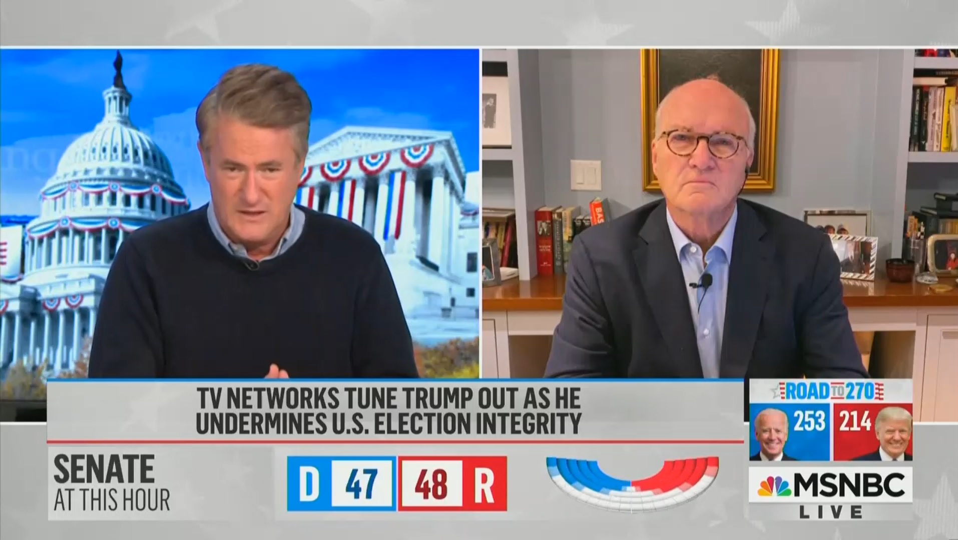 Joe Scarborough Compares Trump to Stalin, Says 'Pathetic' Statement 'Intended to Foment Violence'