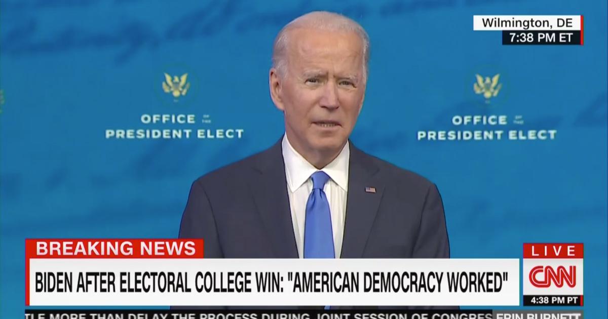 Joe Biden Blasts Republicans Trying to Overturn Election