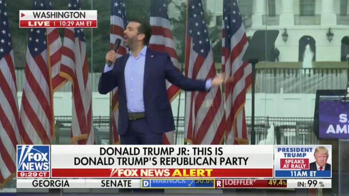 Fox News Cuts Away From Don Jr. Speech After He Starts Screaming Profanities