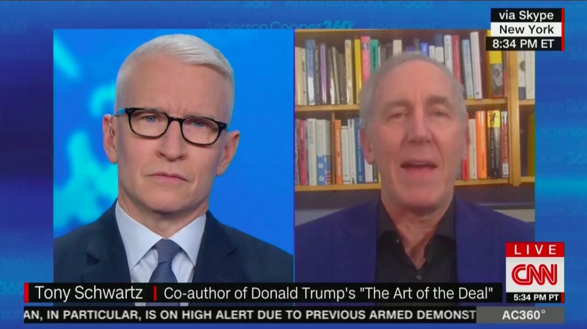 Tony Schwartz Says Trump Post-Presidency Hurt by Twitter Ban