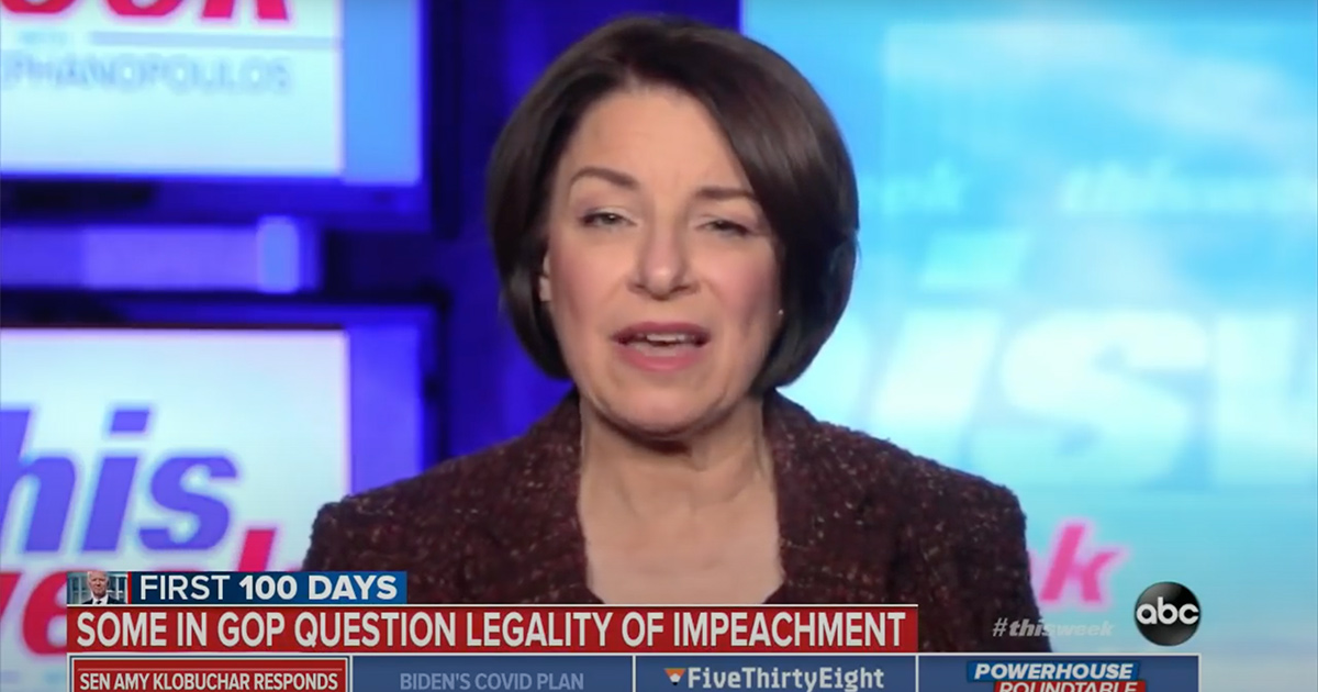 Amy Klobuchar Swipes at Rand Paul for Election Conspiraciessubscribesubscribe
