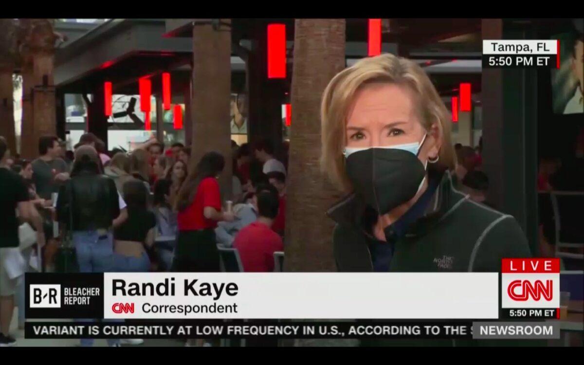 CNN Reporter Aghast at Maskless, Drunk Super Bowl Crowds - Mediaite
