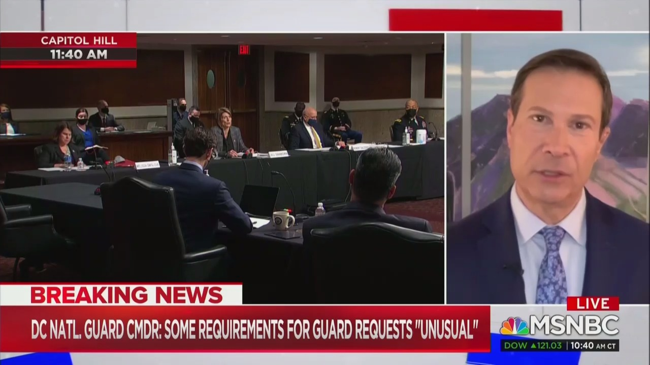 MSNBC Contributor Frank Figliuzzi Speculates Trump White House Prevented Defense of Capitol: 'My Gut's Telling Me There's More to This Story'