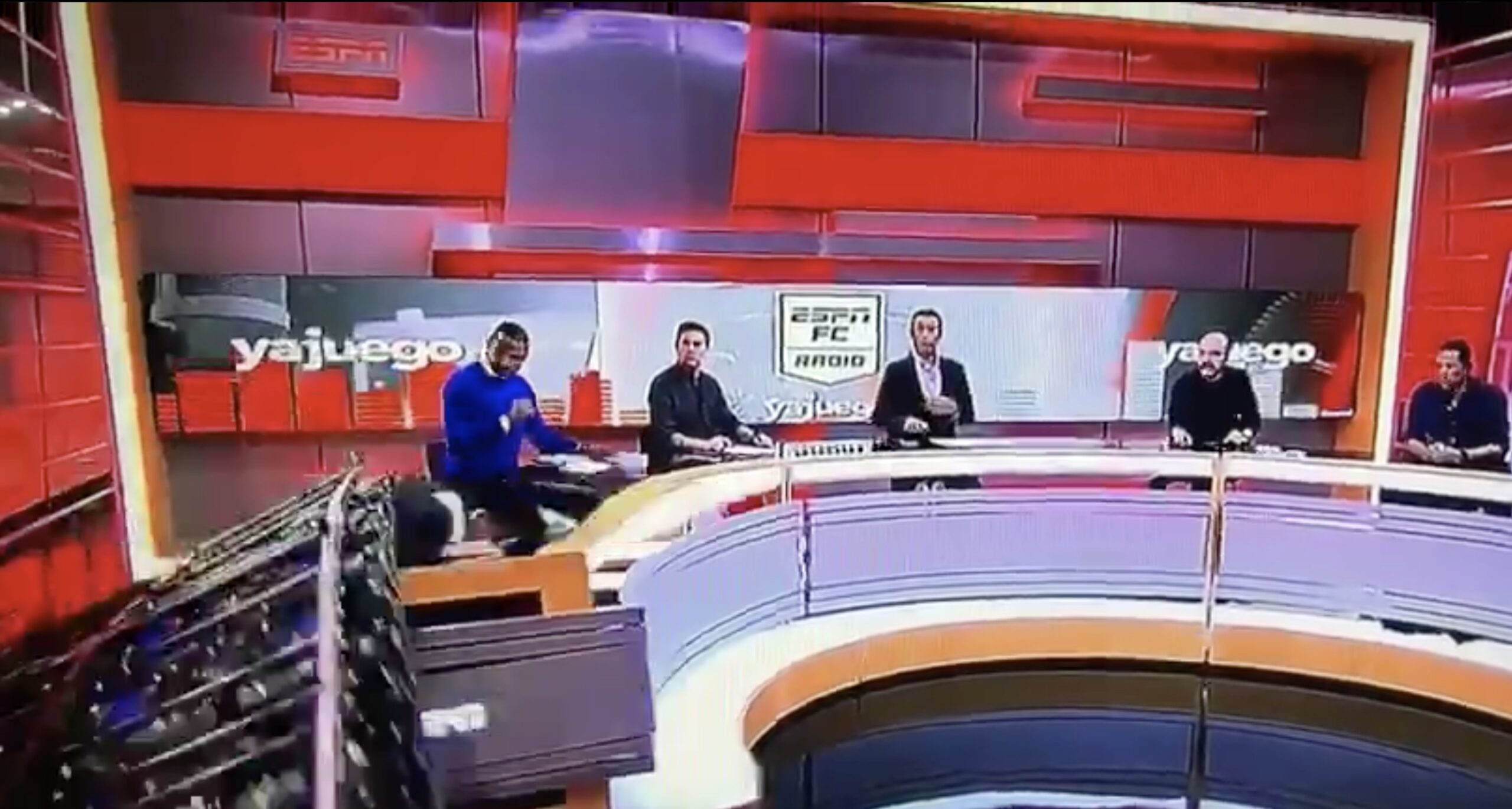 WATCH: ESPN Colombia Reporter CRUSHED on Air by Falling Set Wall