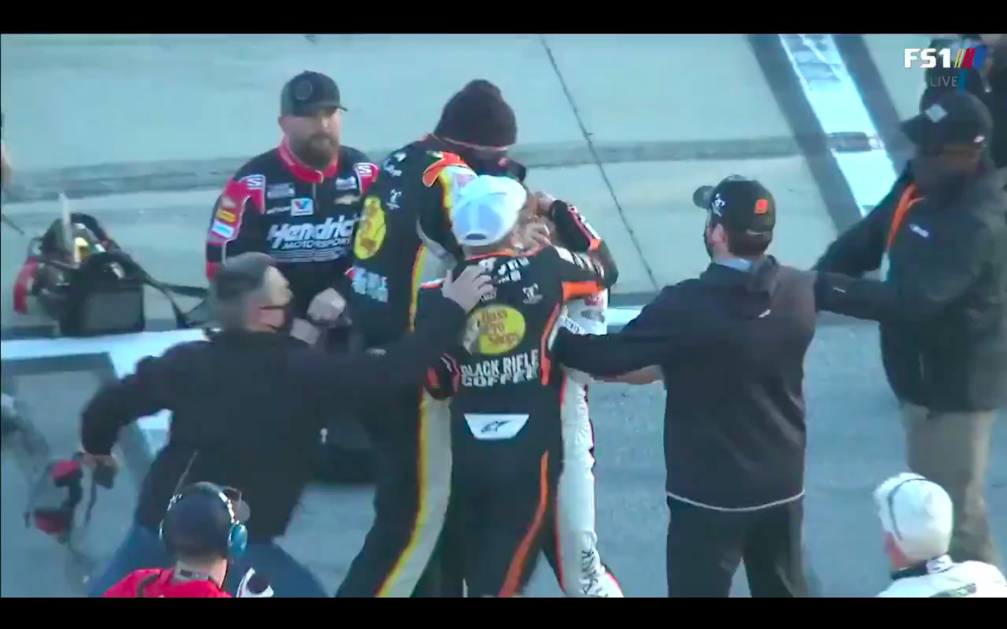 WATCH: NASCAR Drivers Get In Wild Fistfight After Fender Bender in Pit