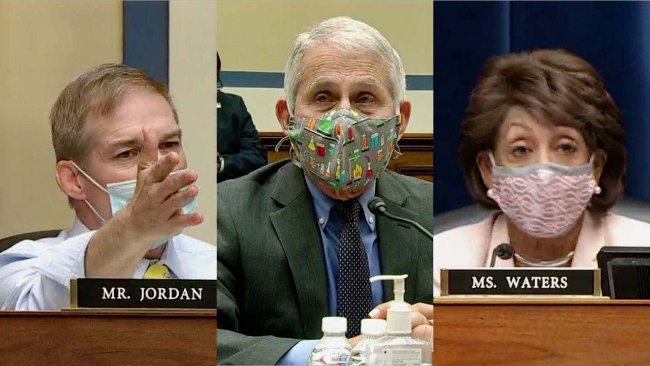 House Hearing on Coronavirus Crisis Erupts Into Shouting Match as Rep. Maxine Waters Cuts Off Rep. Jim Jordan's Brutal Exchange With Dr. Fauci: 'Shut Your Mouth!'