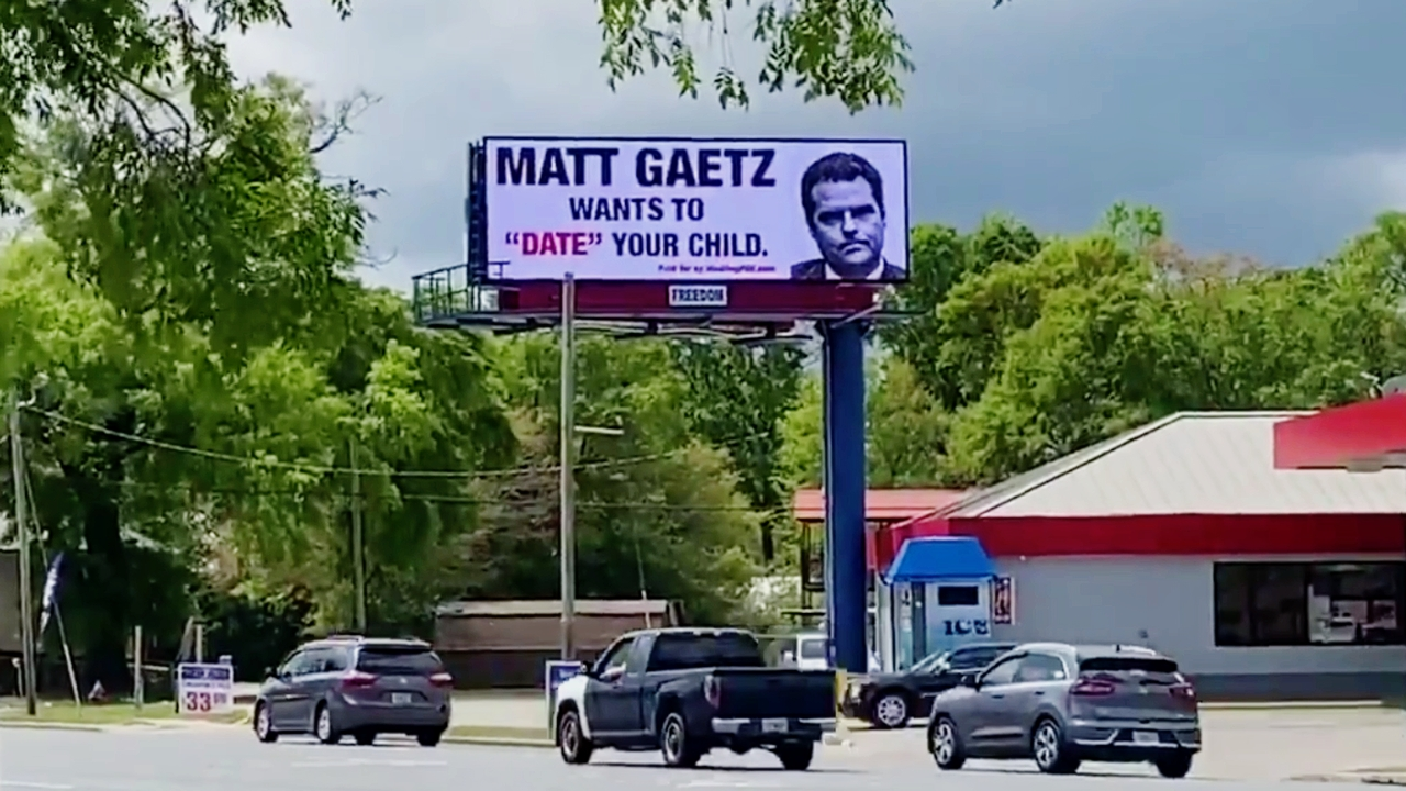 Matt Gaetz Wants to Date Your Child' Billboard Seen in Florida