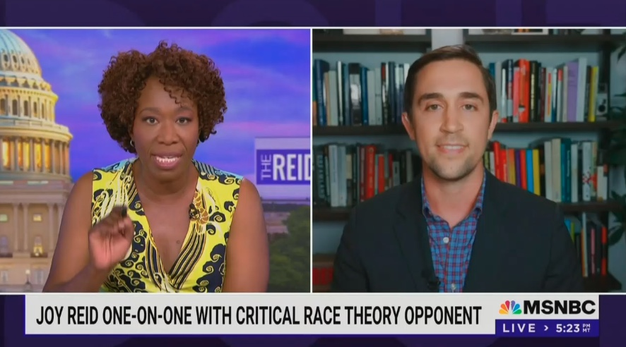 Joy Reid and Opponent of Critical Race Theory Clash In Trainwreck Interview: Next Time 'Give Me at Least a Chance to Complete Two Sentences'